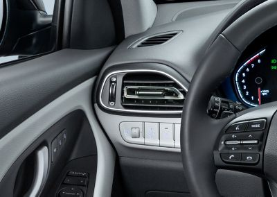 Close-up of the refined air vents in the new Hyundai i30 Fastback